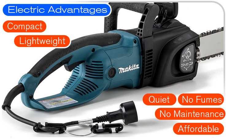electric-advantages-makita-chainsaw