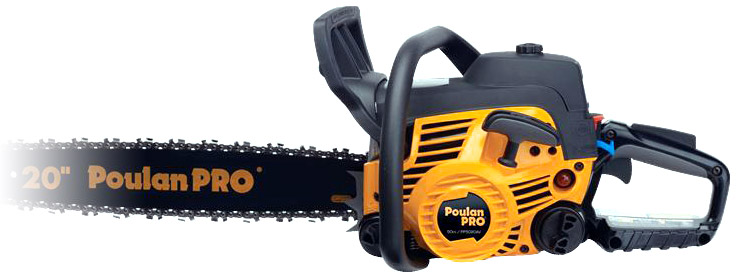 Poulan Pro PP5020AV. Best gas chainsaw.