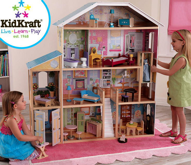 KidKraft-Majestic-Mansion-Dollhouse-with-Furniture-cool-kids-toys