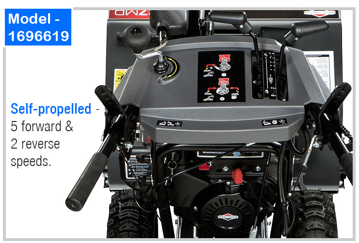 Briggs and Stratton 1696619 : 2-Stage Snow Blower.