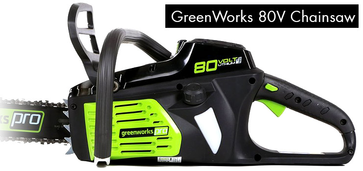 Greenworks-chainsaw-80V-battery-side