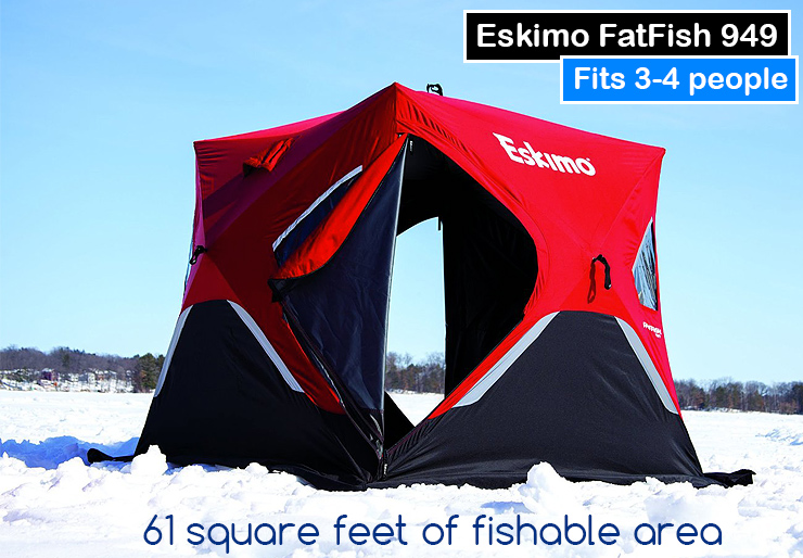 Eskimo FatFish 949 ice tent.