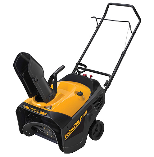 Product image of the Poulan Pro PR521 snow thrower.
