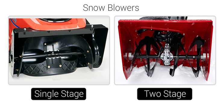 single stage snow blower vs two stage snow blower