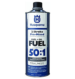 Product image of the Husqvarna pre-mixed fuel.