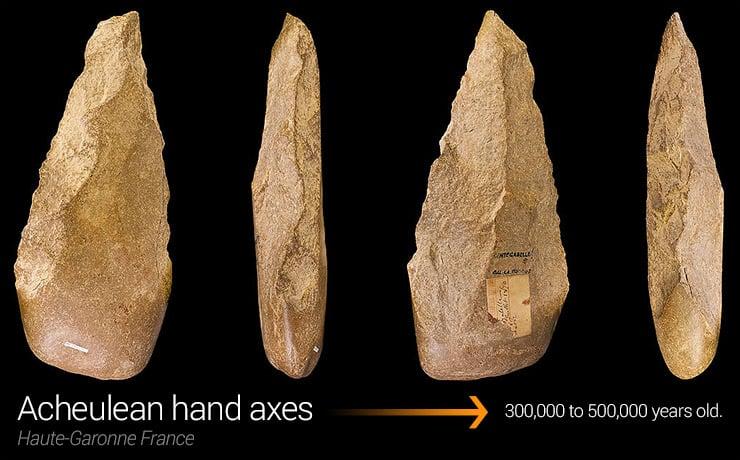 Acheulean hand axes.