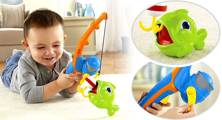 Product images of the Fisher Price Grow With Me Fishin' Fun.