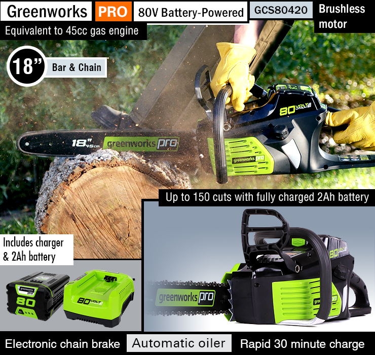 Best chainsaw for homeowners.