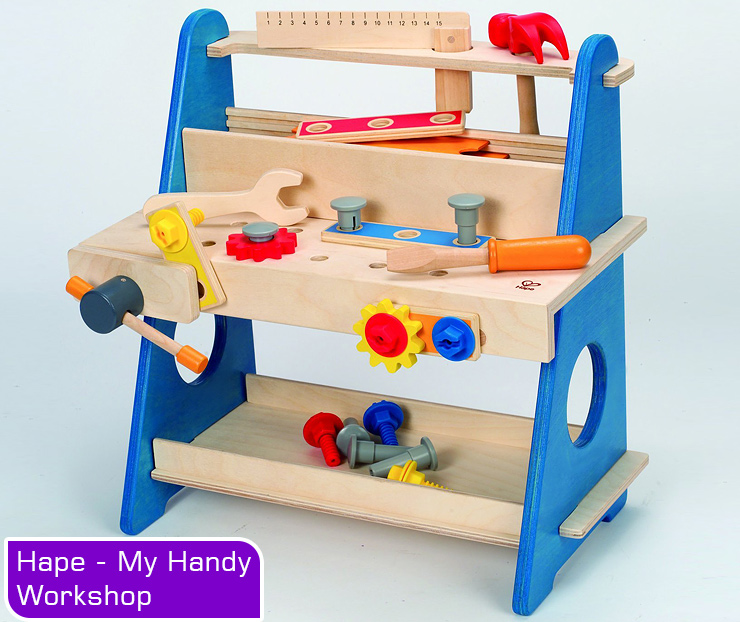 Hape my handy workshop, workbench for toddlers.