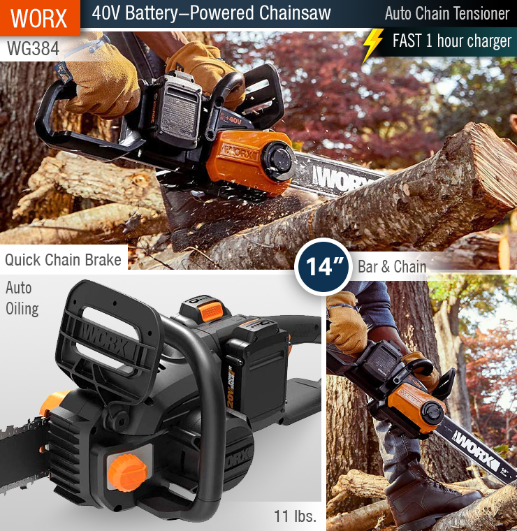 best chainsaw, battery. buy.
