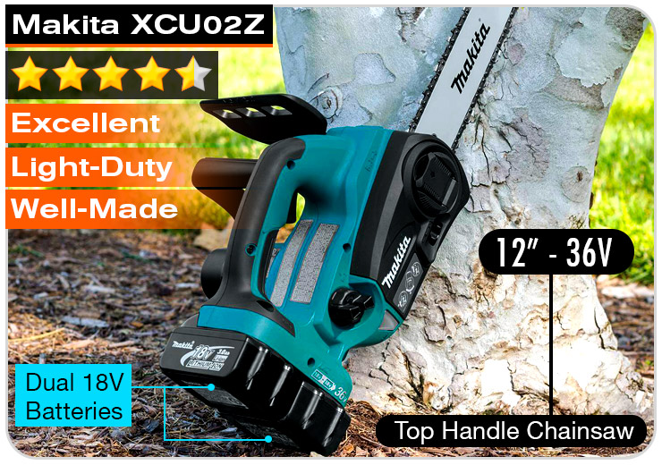 Makita-XCU02Z-best-small-battery-chainsaw