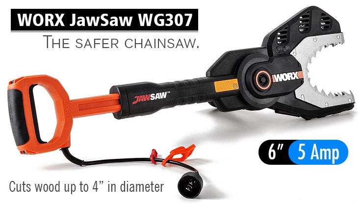 WORX JawSaw WG307. Best small chainsaw.