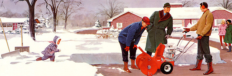 From a 1964 Ariens brochure. Love the illustration.