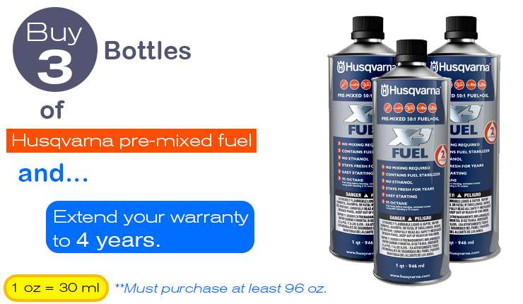 Husqvarna-pre-mixed-fuel-extended-warranty-3-bottles