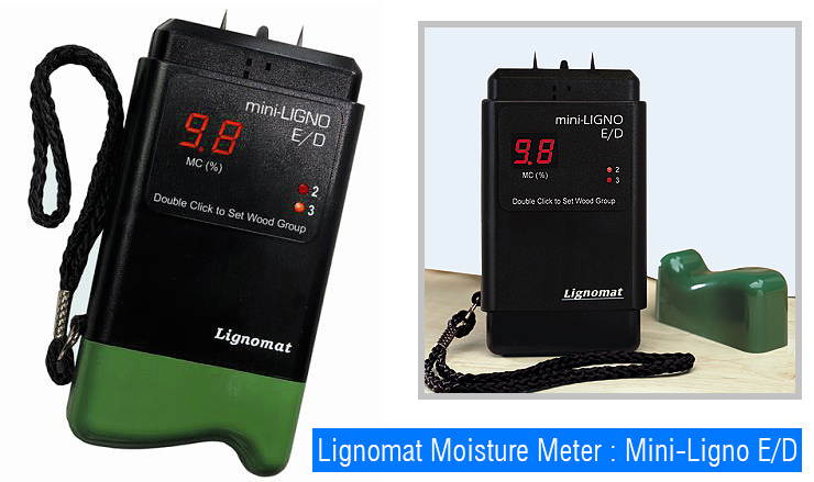 General Tools & Instruments Comparison E/D vs S/D. Firewood moisture meter.