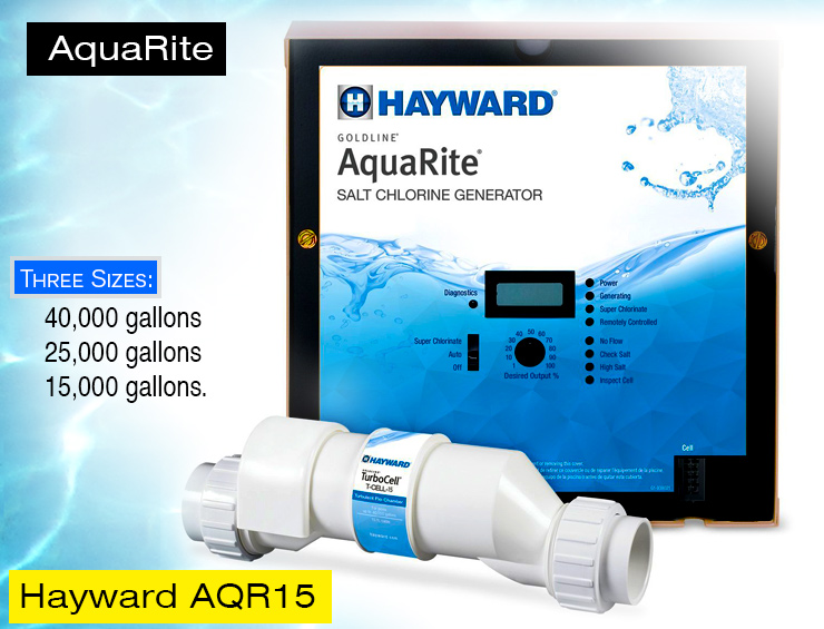 Hayward AQR15 AquaRite salt water chlorinator.