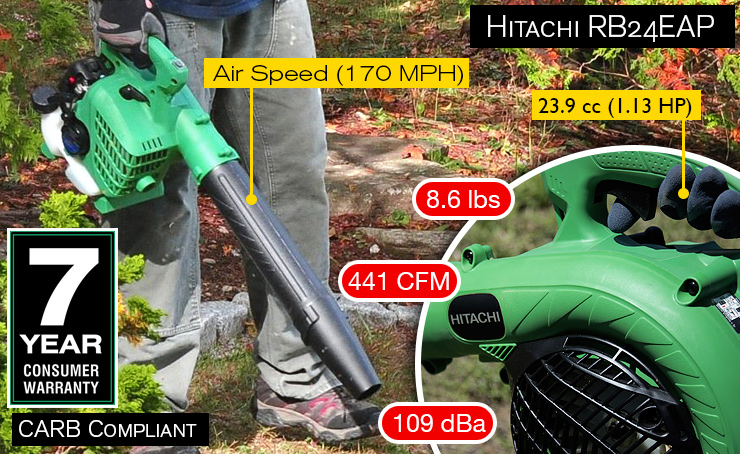 Hitachi RB24EAP leaf blower.