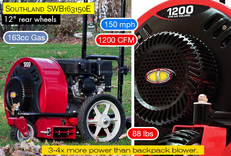 Southland SWB163150E walk behind leaf blower.