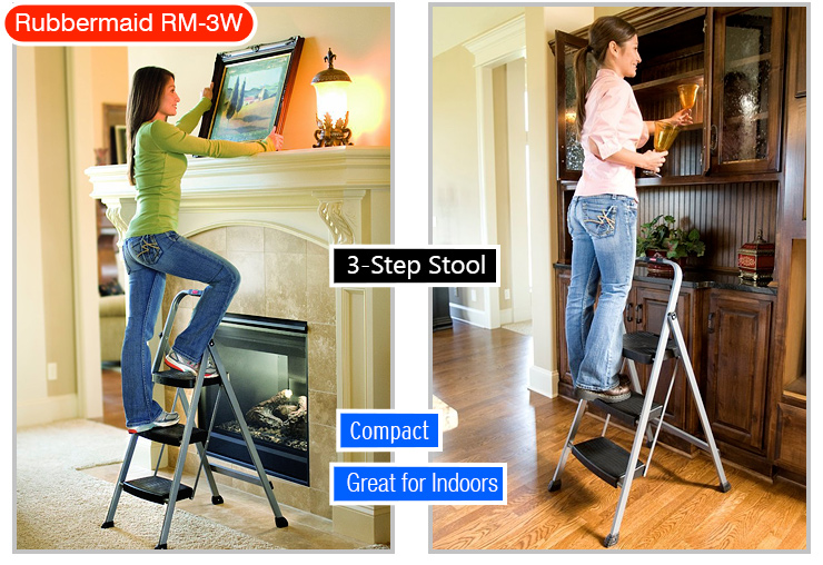 Rubbermaid RM-3W Folding 3-Step stool ladder. Ladder type.