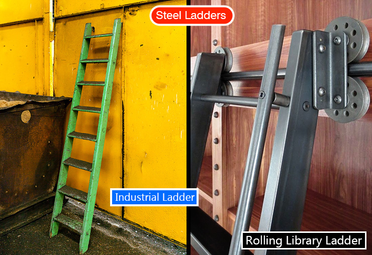 Types of ladders.