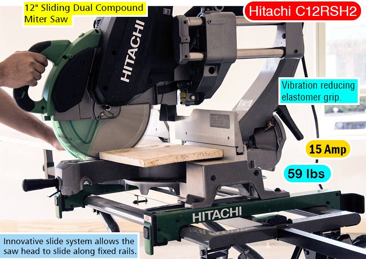 Hitachi C12RSH2 miter saw.
