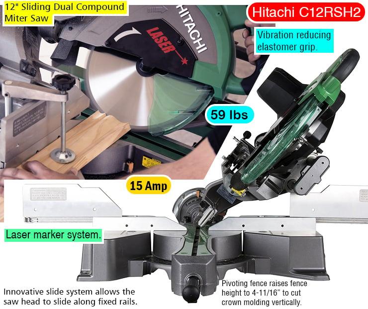 Hitachi C12RSH2 miter saw.