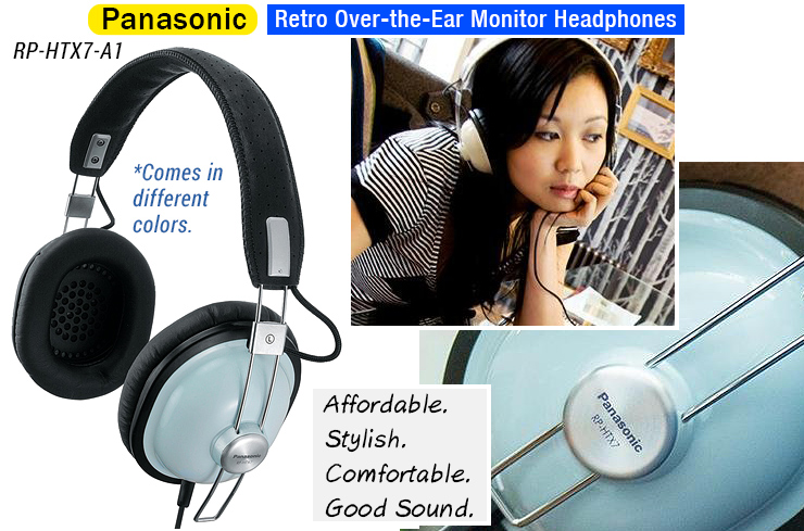 Panasonic Retro Stereo Monitor Headphones RP-HTX7-A1.