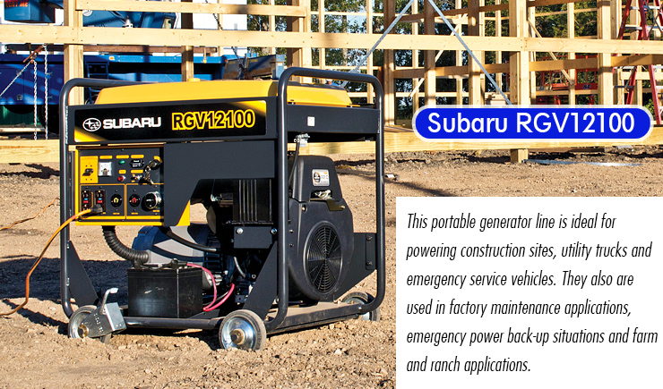 Subaru RGV12100 : best industrial generator review.