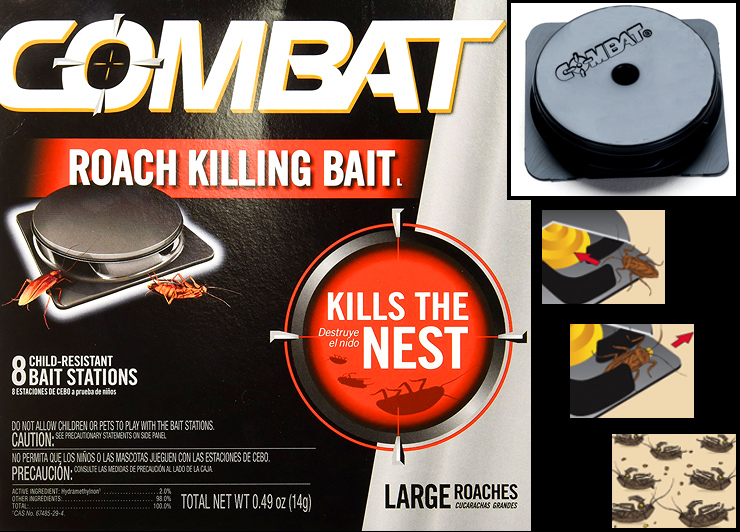 Combat Max for Large Roaches.