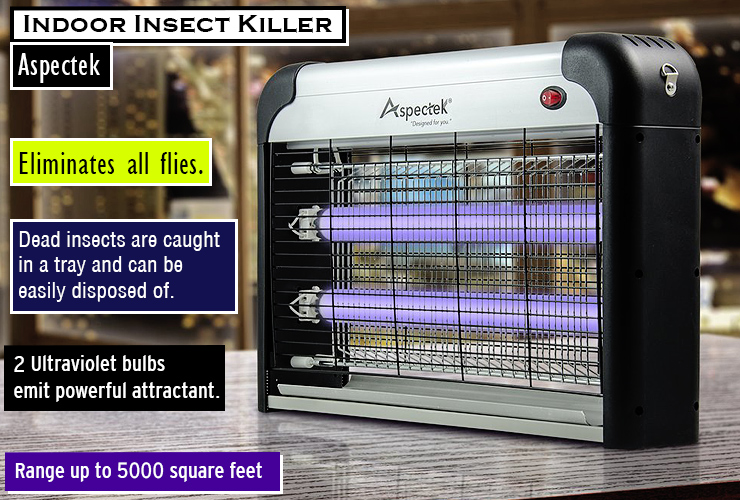 Aspectek indoor insect zapper. Best gnat killer in your house.