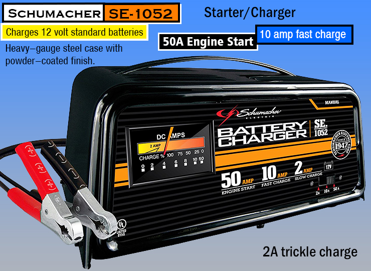 Schumacher SE-1052 50/10/2 Amp Manual Starter/Charger