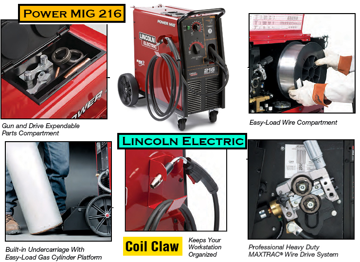 Lincoln Electric Power MIG 216 - best MIG welder.
