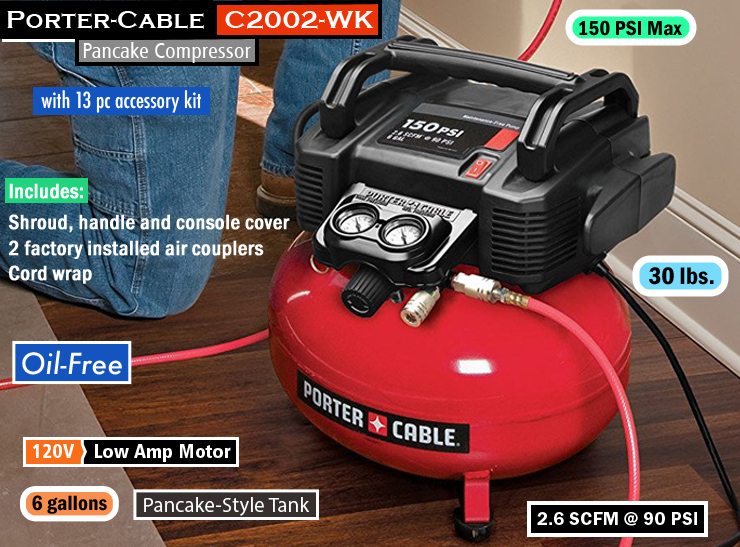PORTER-CABLE C2002-WK : best air compressor