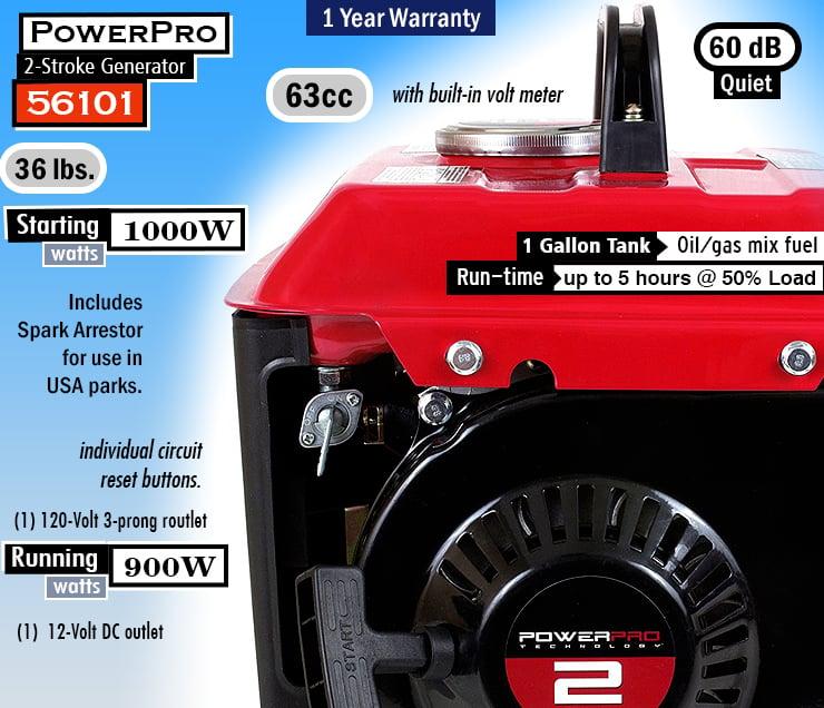PowerPro 56101 : BEST small gas generator