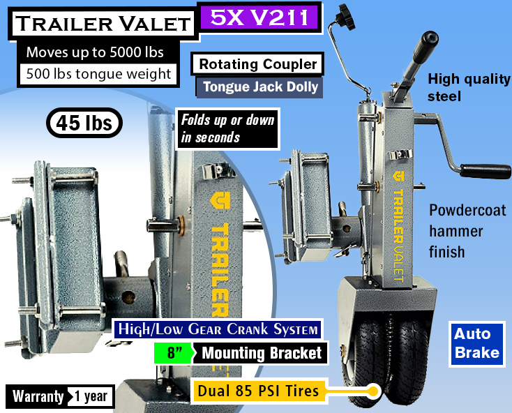 Trailer Valet 5X V211 Tongue Jack Dolly