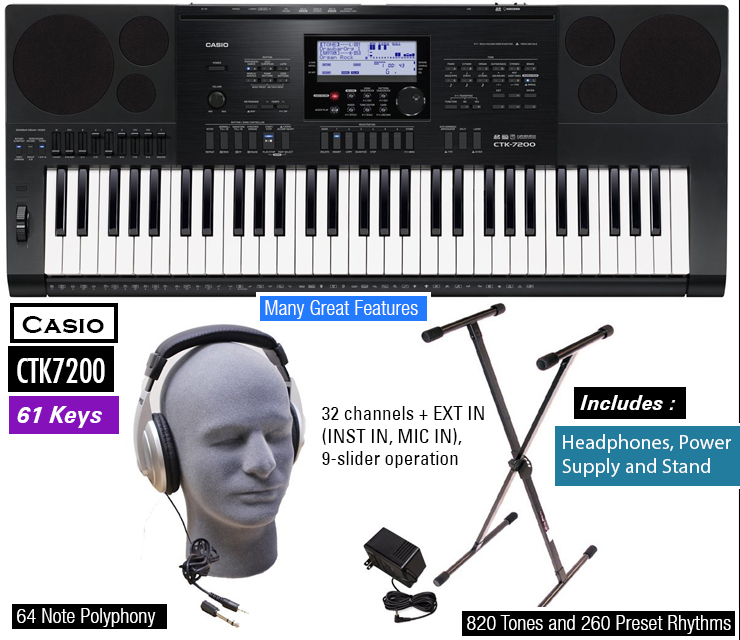 Casio CTK7200 : cool toys for boys.