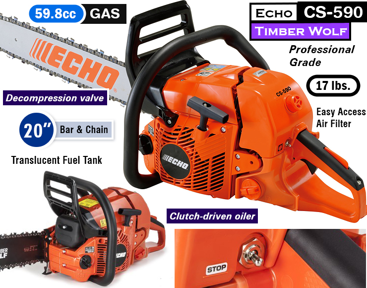 Echo CS-590 : Best gas chainsaw