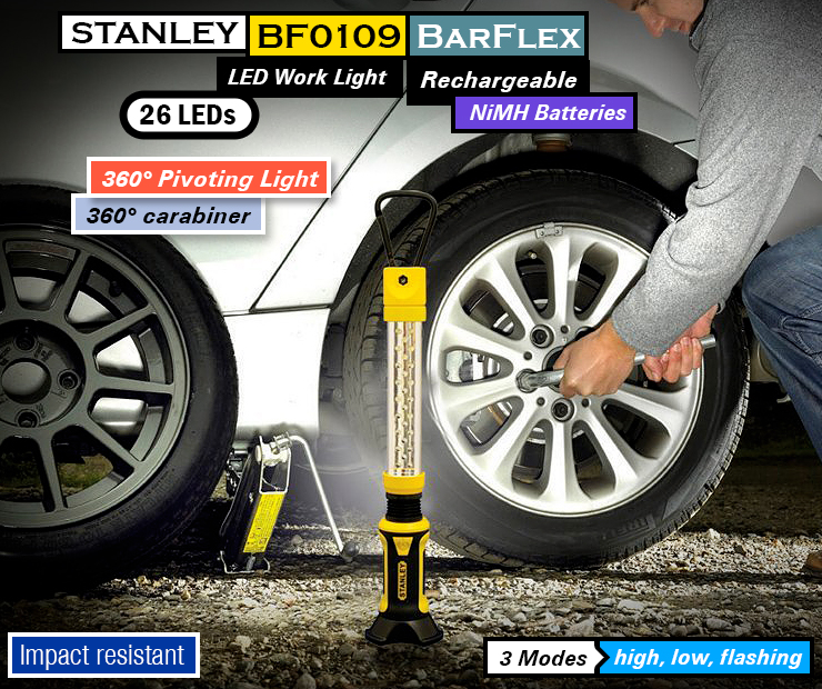 STANLEY BF0109 BarFlex : Best Rechargeable flashlight, work light.