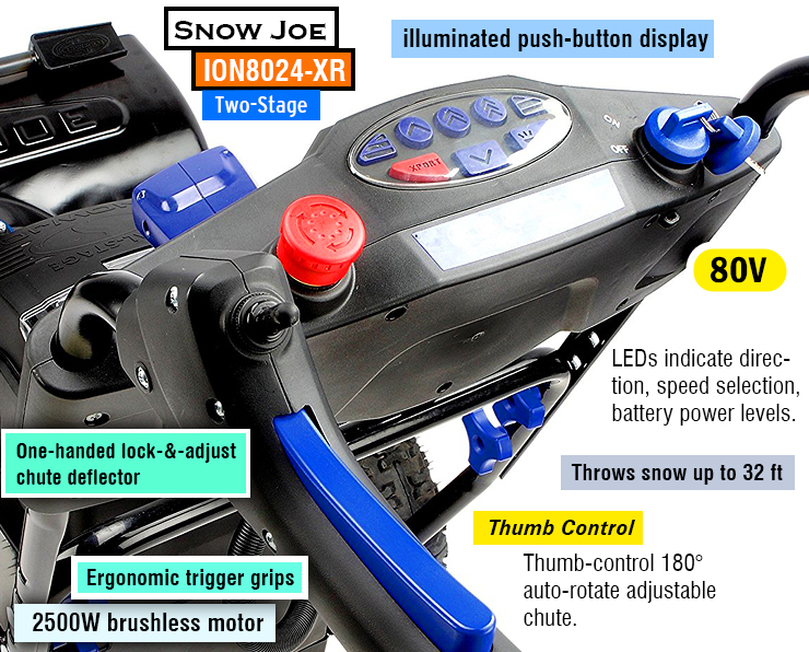 Snow Joe ION8024-XR : Best cordless snow blower, battery snow thrower