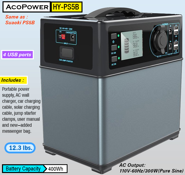 best solar generator kit : ACOPOWER HY-PS5B