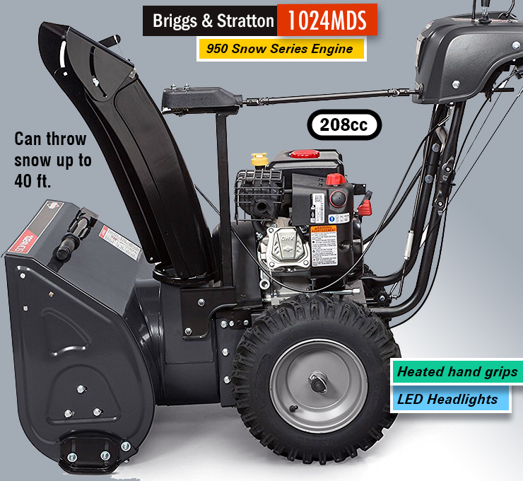 Briggs & Stratton 1024MDS. dual-stage snow blower.