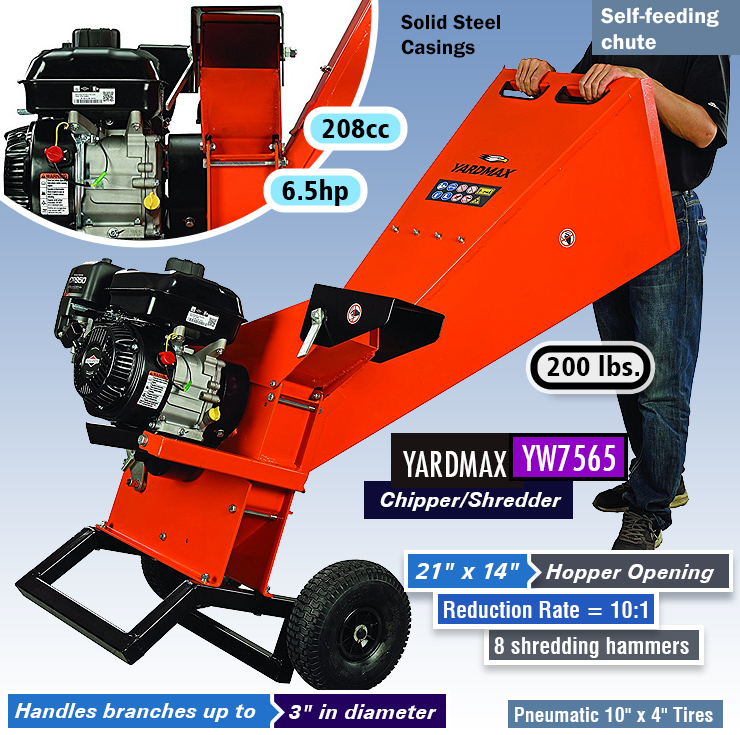 best gas powered wood chipper and shredder.