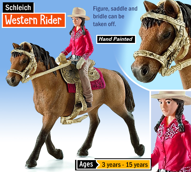 Schleich Western Rider : Best horse toys for kids. Children's horse toys. Best horse toy set.
