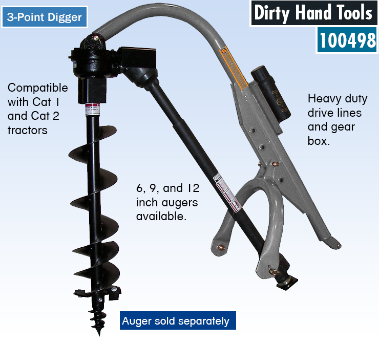best post hole digger. One man auger. Fence post earth auger.