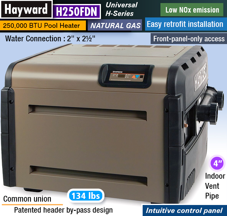 Hayward H250FDN : 250,000 btu pool heater