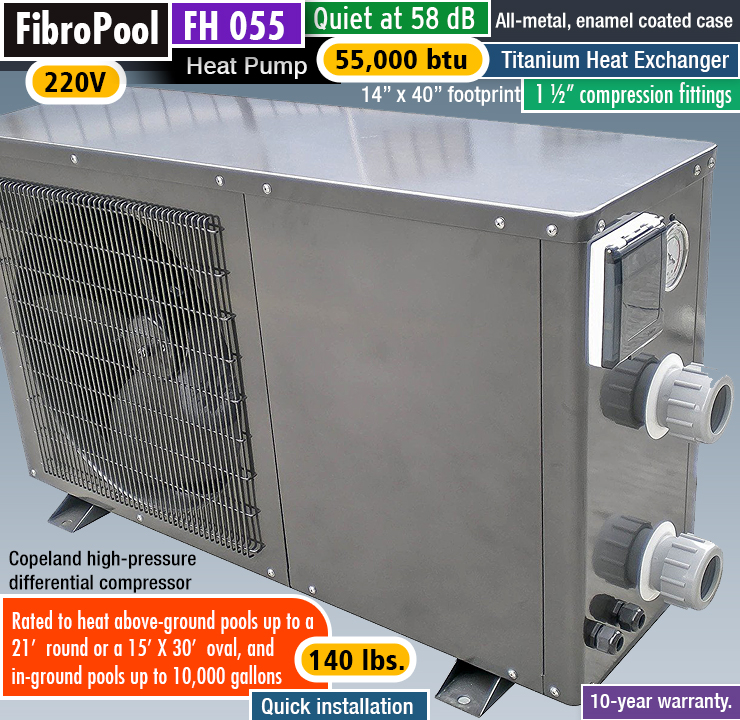 FibroPool FH 055 : best above ground pool heat pump