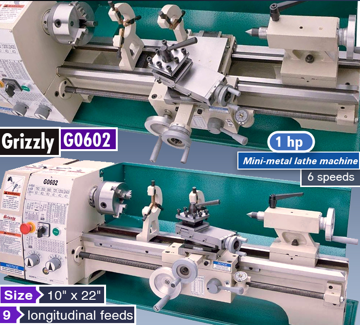 Best metal lathe. Top rated mini-metal lathe machine.