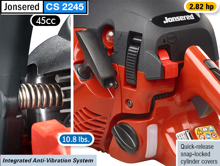 Jonsered CS2245 : best gas chainsaw for homeowners