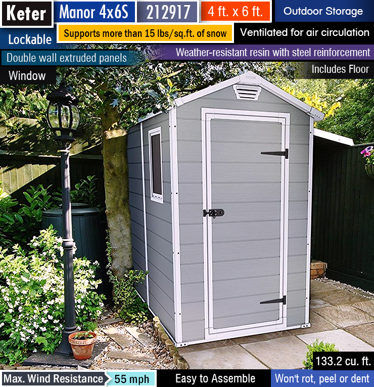 Best outdoor storage shed. Best garden shed. Best resin shed. 4 x 6 shed.
