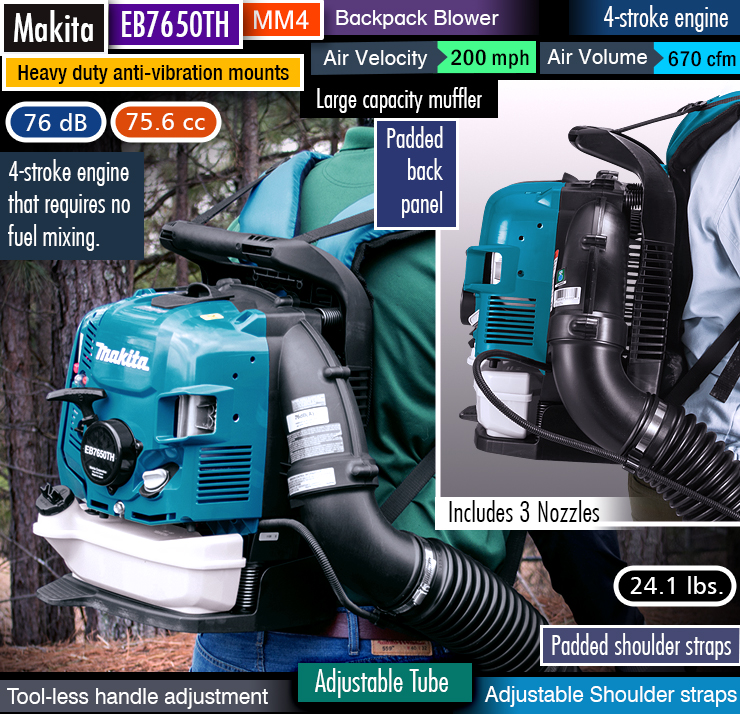 best backpack leaf blower. Most powerful leaf blower. Best gas-powered backpack leaf blower. Best 4-stroke blower.